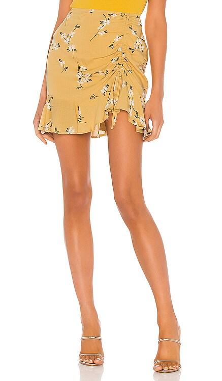Maggie Ruched Mini Skirt MINKPINK $64