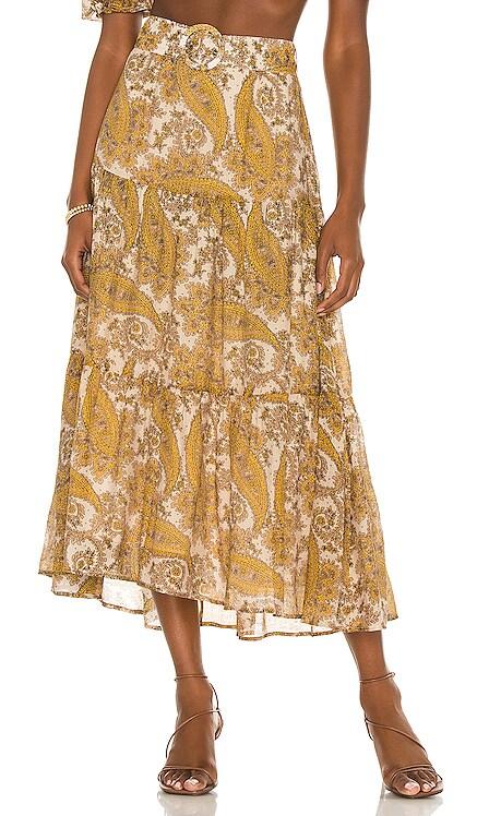 Sistan Belted Midi Skirt MINKPINK $109 NEW
