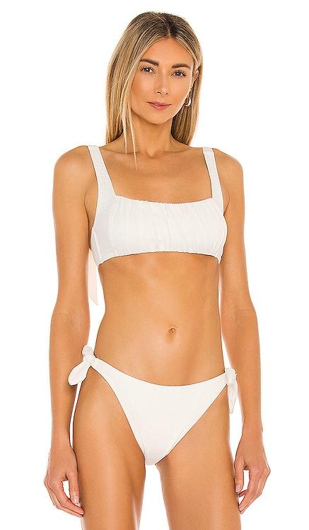 Constance Ruched Crop Bikini Top MINKPINK $49 BEST SELLER