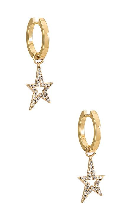 Mel Huggie & Star Charm Earring MIRANDA FRYE $92 NEW