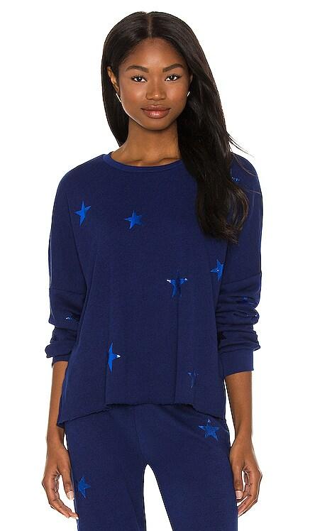 Star Foil Travis Crop Pullover Michael Lauren $121