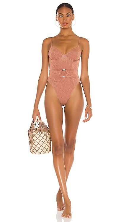 Dainty One Piece Bikini with Belt Montce Swim $198