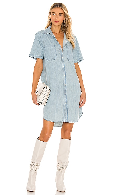 The Frenchie Short Sleeve Knee Dress MOTHER $255