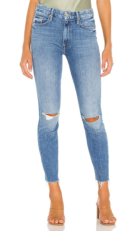 High Waisted Looker Ankle Fray MOTHER $174