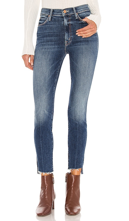 Stunner Zip Ankle Step Fray MOTHER $228 NOUVEAU
