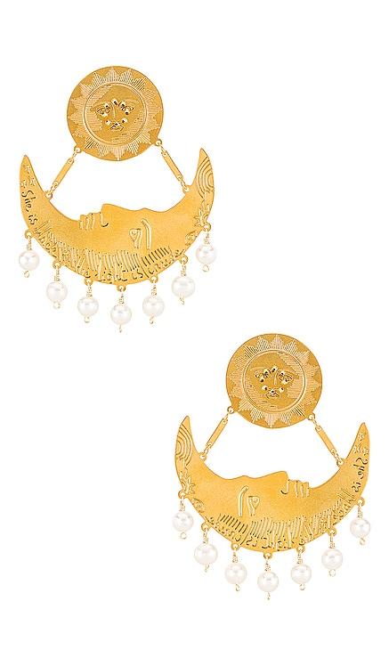 White Moon Clip On Earrings Mercedes Salazar $176 NEW