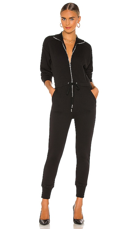 Red Eye French Terry Zip Front Jumpsuit Marissa Webb $345