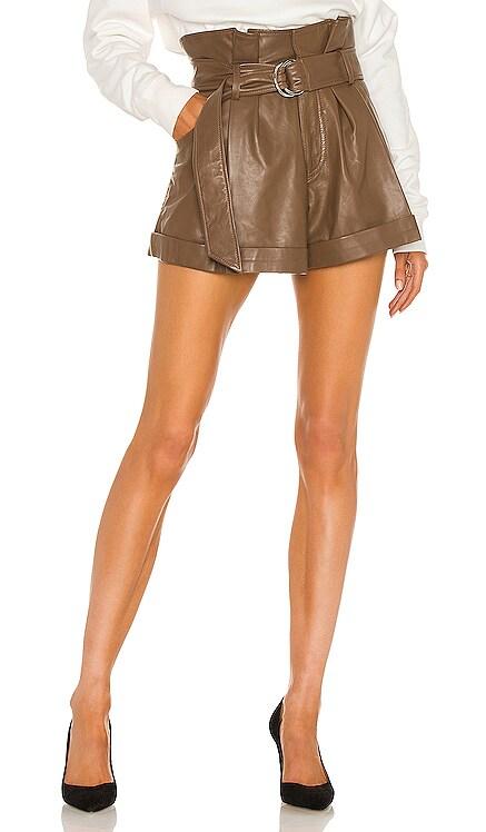 Dixon Leather Paper Bag Short Marissa Webb $425 NEW