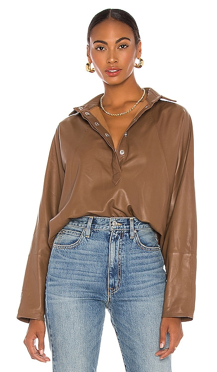 Madi Leather Tunic Top Marissa Webb $498 NEW