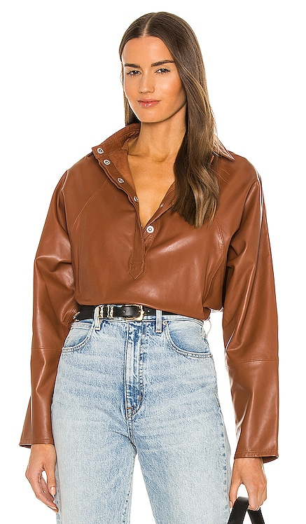 Madi Leather Tunic Top Marissa Webb $498 NOUVEAU