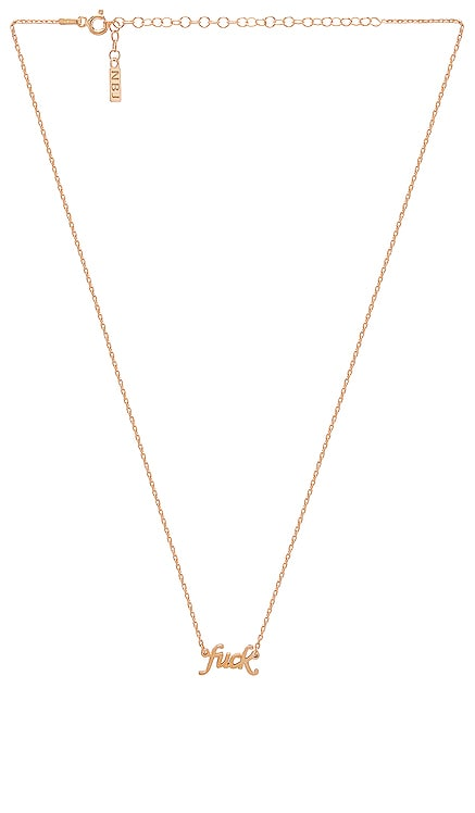 """""""Fuck"""" Necklace Natalie B Jewelry $70 BEST SELLER"""