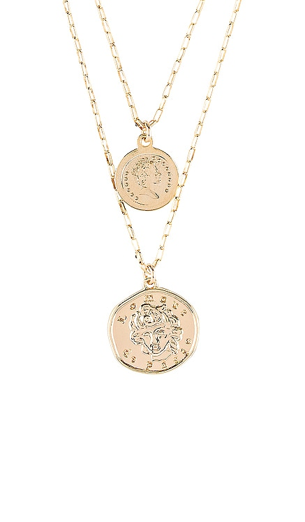 x REVOLVE Lomour Double Coin Necklace Natalie B Jewelry $110 BEST SELLER