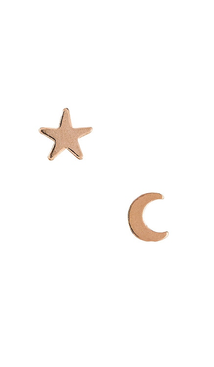 ENSEMBLE DE CLOUS D'OREILLES MOON & STAR Natalie B Jewelry $29 BEST SELLER