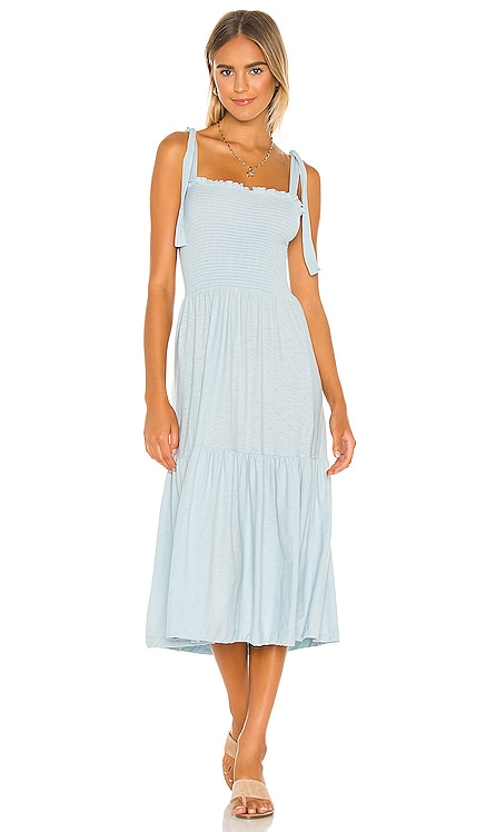 Farin Smocked Midi Dress Nation LTD $150 BEST SELLER