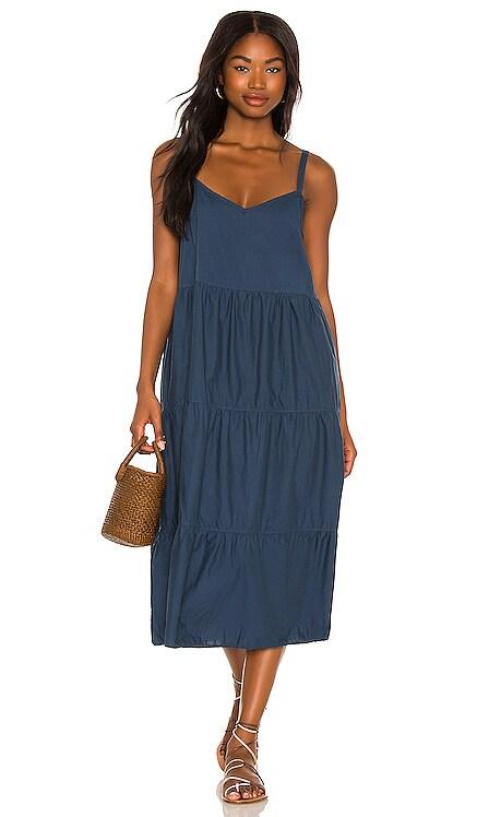 Aiko Tiered Midi Dress Nation LTD $198 NEW