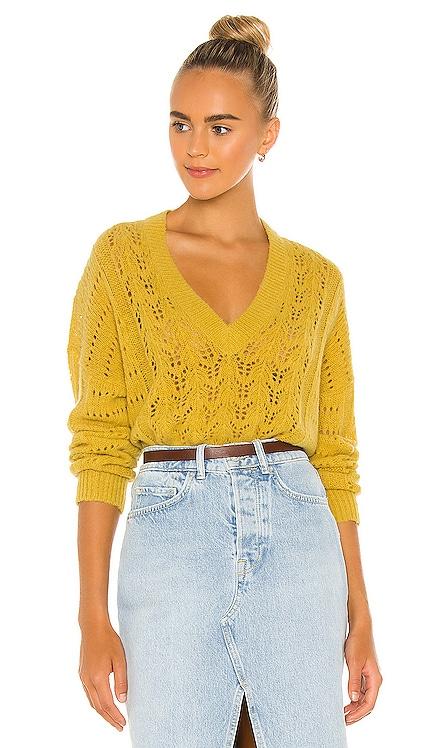 Mika Pointelle Slouchy V Sweater Nation LTD $198