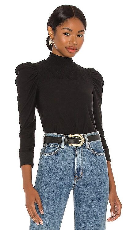 Zahara Feme Mock Neck Tee Nation LTD $110 NEW