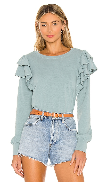 Xenia Ruffle Sleeve Tee Nation LTD $158