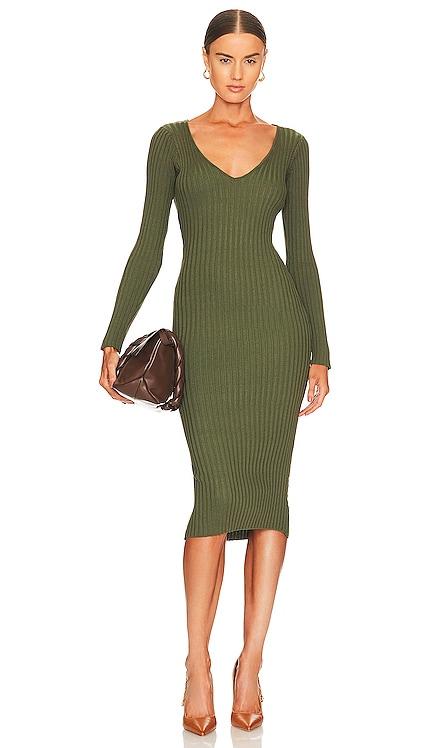 Bekah Deep V Midi Dress NBD $140
