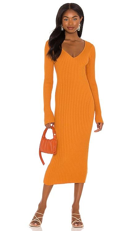 Bekah Deep V Midi Dress NBD $140 NEW
