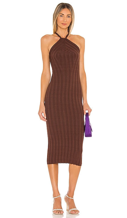 Grace Wide Rib Knit Dress NBD $188
