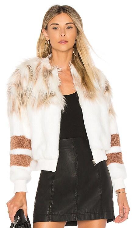 The Bella Faux Fur Bomber NBD $228 BEST SELLER