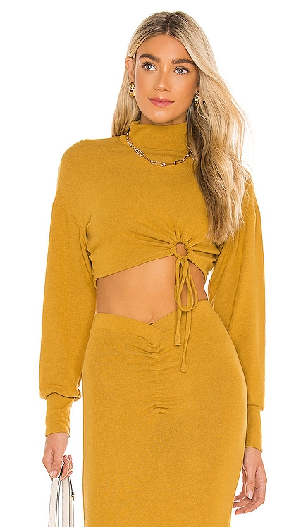 Mock Neck Ruched Top NBD $128
