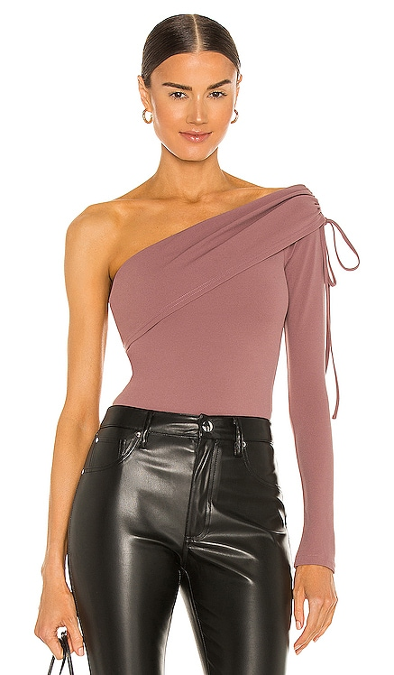 One Shoulder Drawstring Bodysuit NBD $138