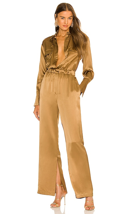Emma Double Pocket Long Sleeve Jumpsuit NICHOLAS $495 NUEVO