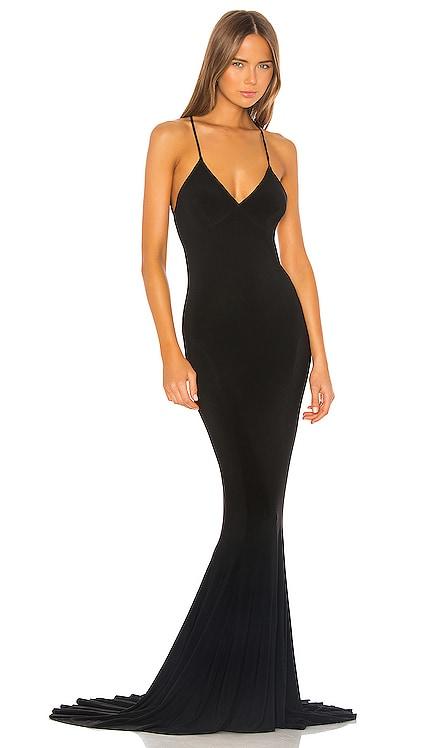 Low Back Slip Mermaid Fishtail Gown Norma Kamali $350