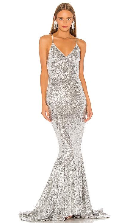 Sequin Mermaid Fishtail Gown Norma Kamali $550 BEST SELLER