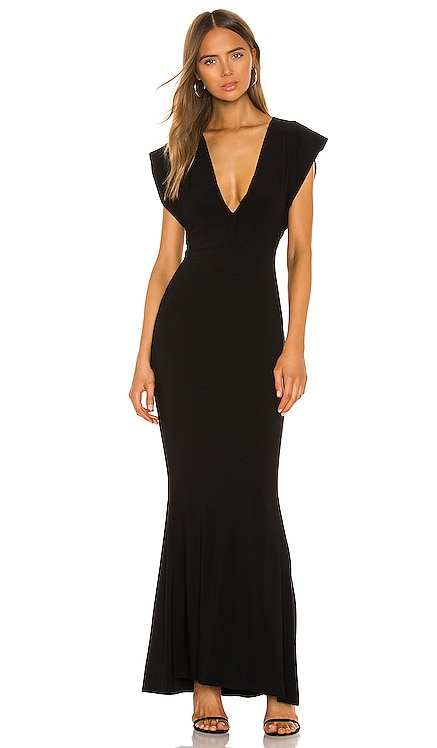 X REVOLVE V Neck Rectangle Gown Norma Kamali $175 NEW ARRIVAL