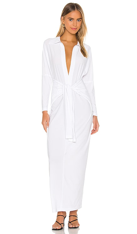 Tie Front NK Shirt Dress Norma Kamali $185 BEST SELLER