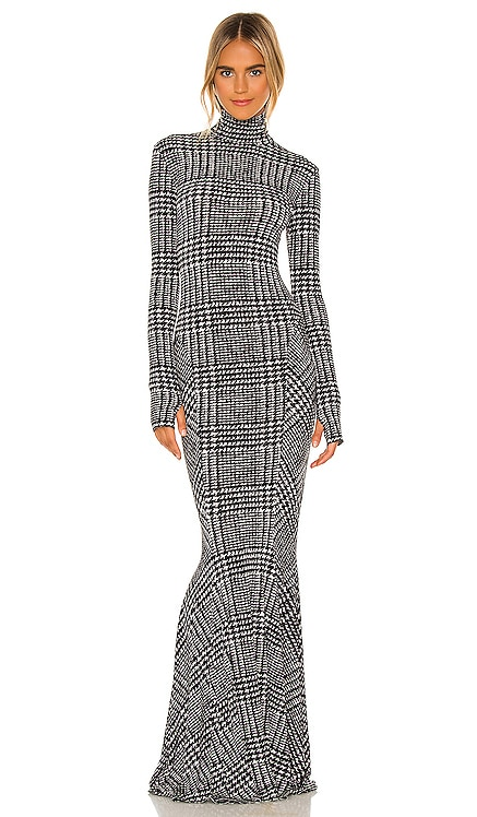 Long Sleeve Turtle Fishtail Gown Norma Kamali $335