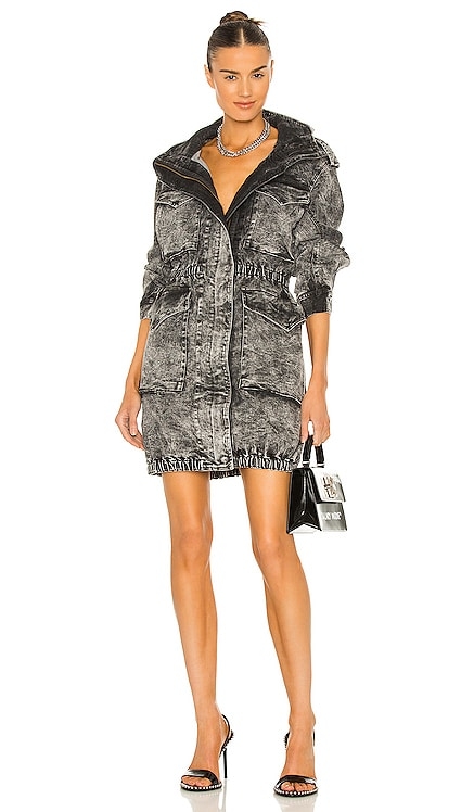 Hooded Cargo Dress Norma Kamali $395