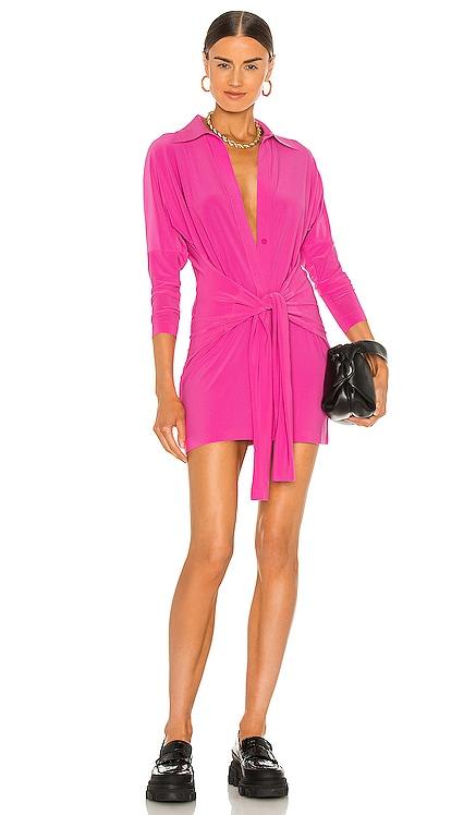 x REVOLVE Mini Tie Front NK Shirt Dress Norma Kamali $165