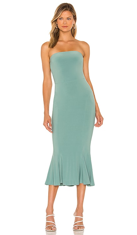 Strapless Fishtail Midi Dress Norma Kamali $195