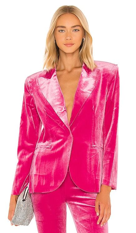 Single Breasted Blazer en Rose Norma Kamali $265