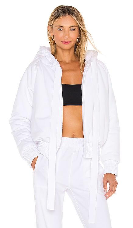 Hooded Bomber Jacket Norma Kamali $365 NEW