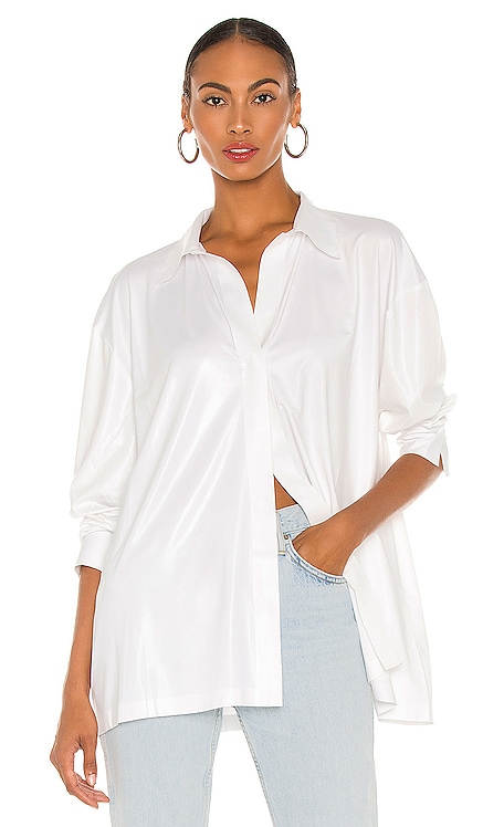 Oversized Boyfriend Shirt Norma Kamali $175 NEW