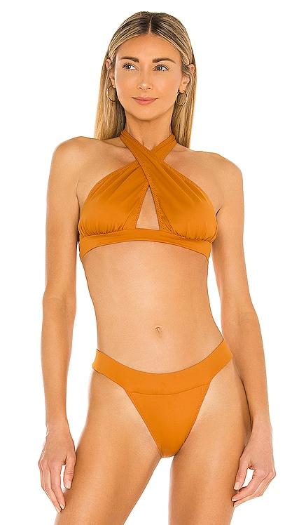 x REVOLVE Cross Halter Bikini Top Norma Kamali $60 NEW