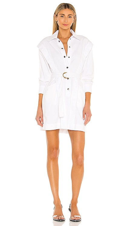 White Jeannie Shirt Dress Noam $556