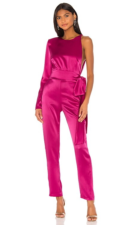 X REVOLVE Bettina One Shoulder Jumpsuit NONchalant $446