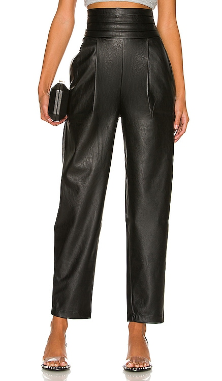 Phoenix Vegan Leather Tuxedo Pant NONchalant $345