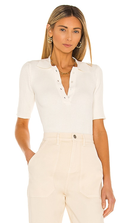 Terran Ribbed Knit Polo NONchalant $216