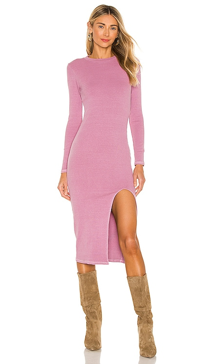 Cari Mock Neck Slit Dress NSF $225