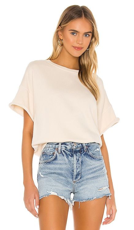 Brooke Short Sleeve Crew Neck Sweatshirt NSF $150