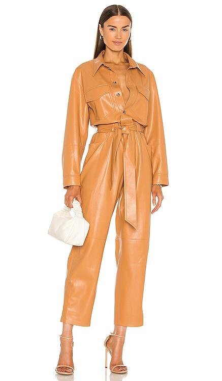Ashton Vegan Leather Jumpsuit Nanushka $725 NEW