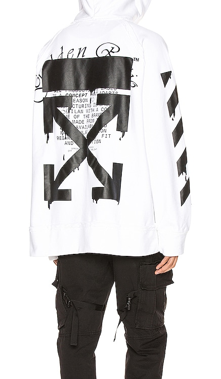 Dripping Arrows Incomp Hoodie OFF-WHITE $394