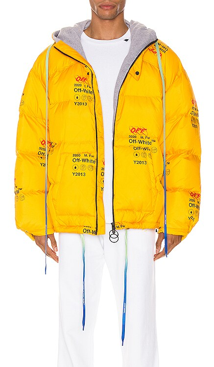 Industrial Zipped Puffer OFF-WHITE $1,260